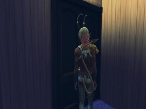Alfran Awaits For His Door To Open