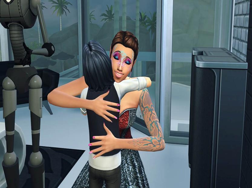 Samla Hugs Alex Back