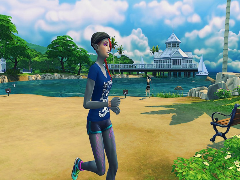 Shaela Running in Simulation 3