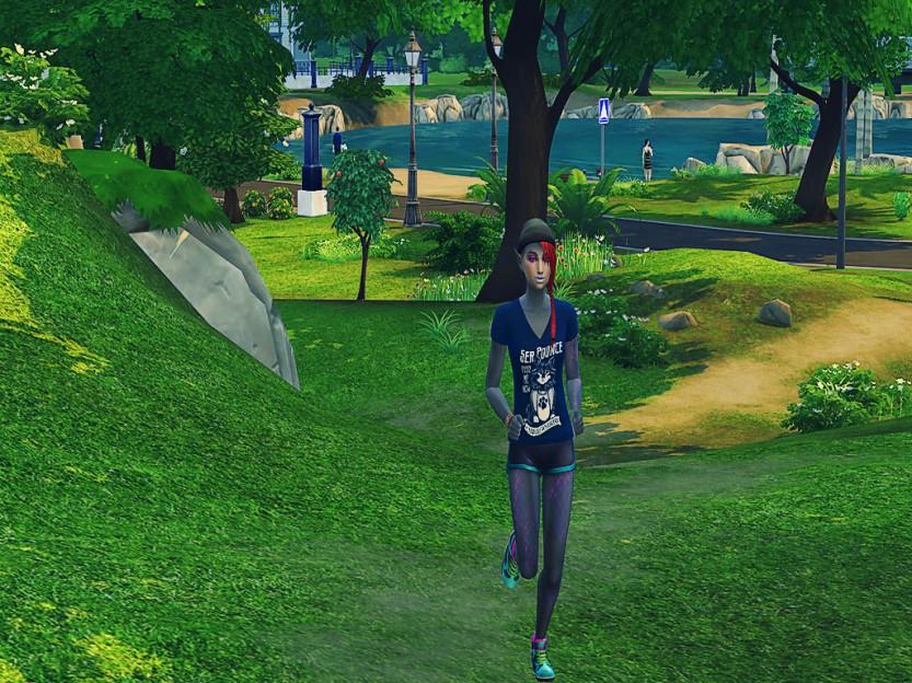 Shaela Running in Simulation 5