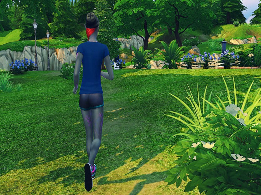 Shaela Running in Simulation 6