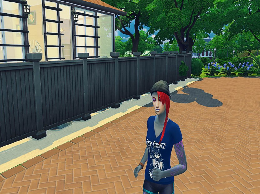 Shaela Running in Simulation 7