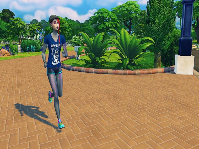 Shaela Running in Simulation