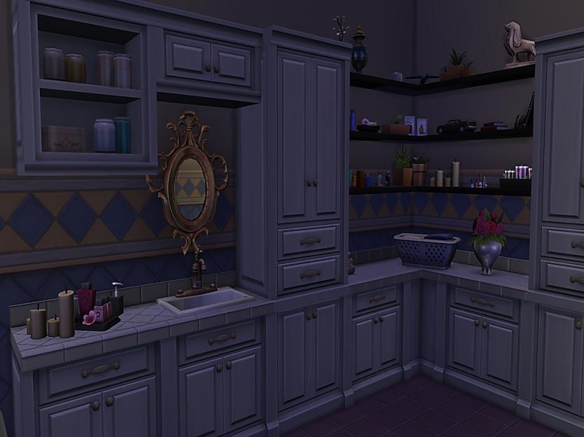 DoV Bathroom Shelves Filled